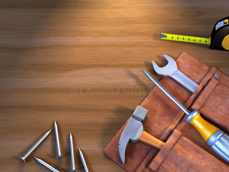 Hágalo usted mismo las herramientas stock de ilustración