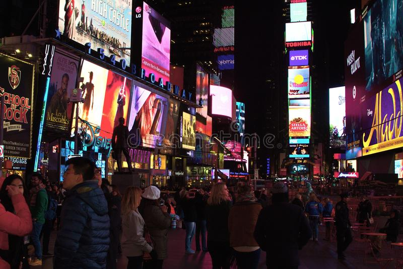 Hâte et mouvement de Times Square, New York City photos stock