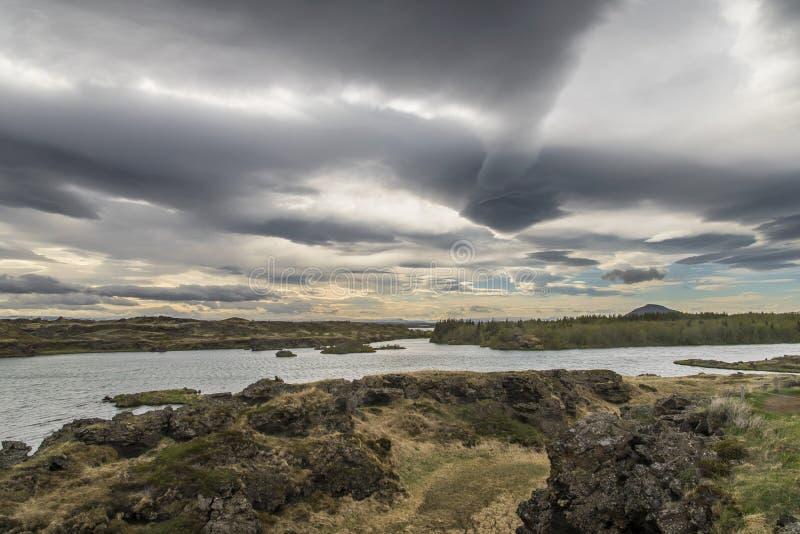 Höfði - verrückter Himmel lizenzfreies stockbild