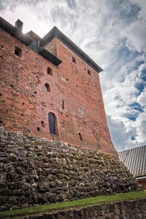 Hämeenlinna-Festung lizenzfreie stockfotografie