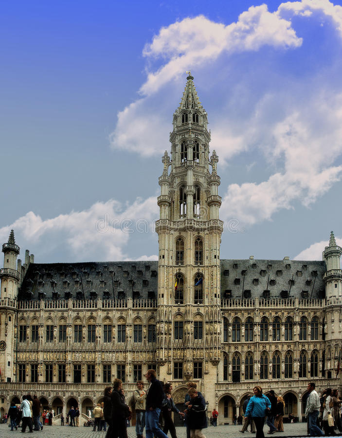 HÃ'tel de Ville de Bruxelles immagine stock