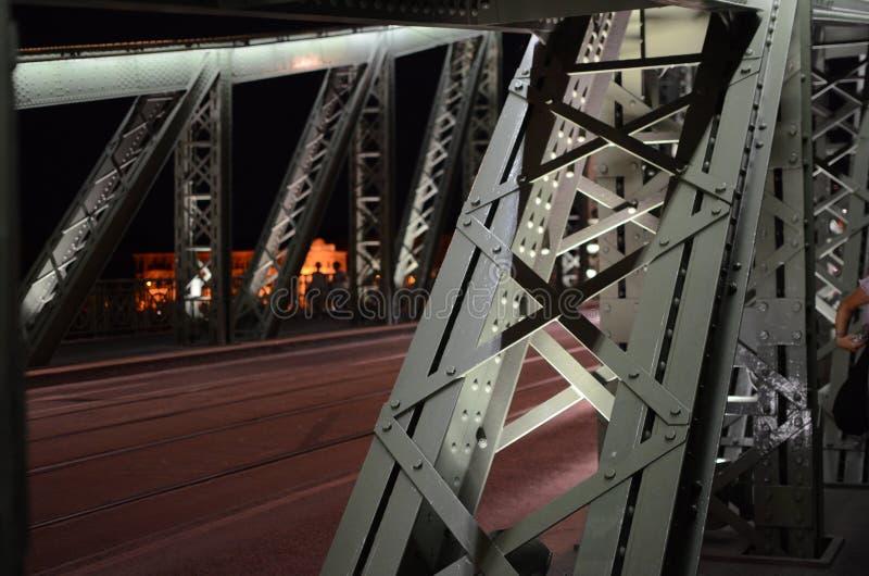 HÃd de g do ¡ de SzabadsÃ, detalhe da ponte da liberdade, Budapest imagem de stock