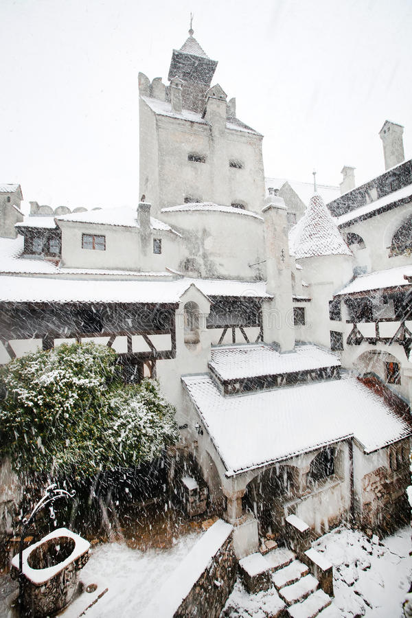 häftig snöstormklislott över fotografering för bildbyråer