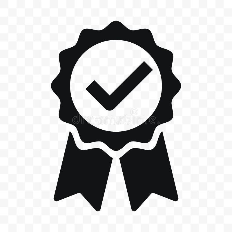 Häkchen-Bandaufkleber der Qualität Ikone zugelassener Zugelassene oder beste Wahl des erstklassigen Produktes des Vektors empfahl lizenzfreie abbildung