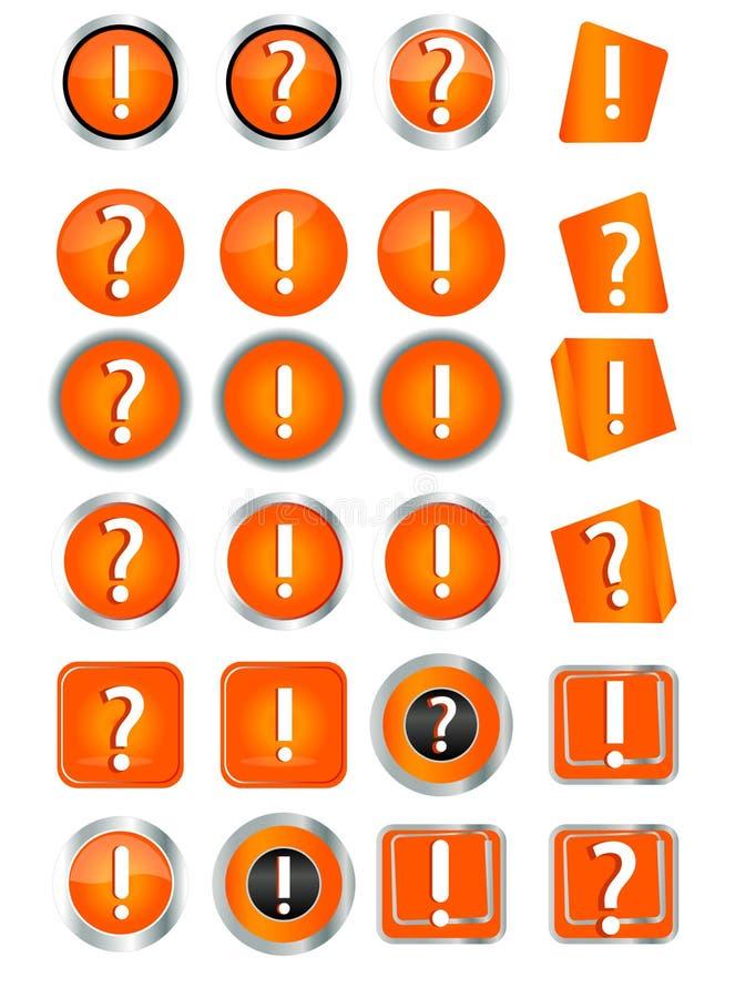 Häkchen, falscher Mark Icons stock abbildung