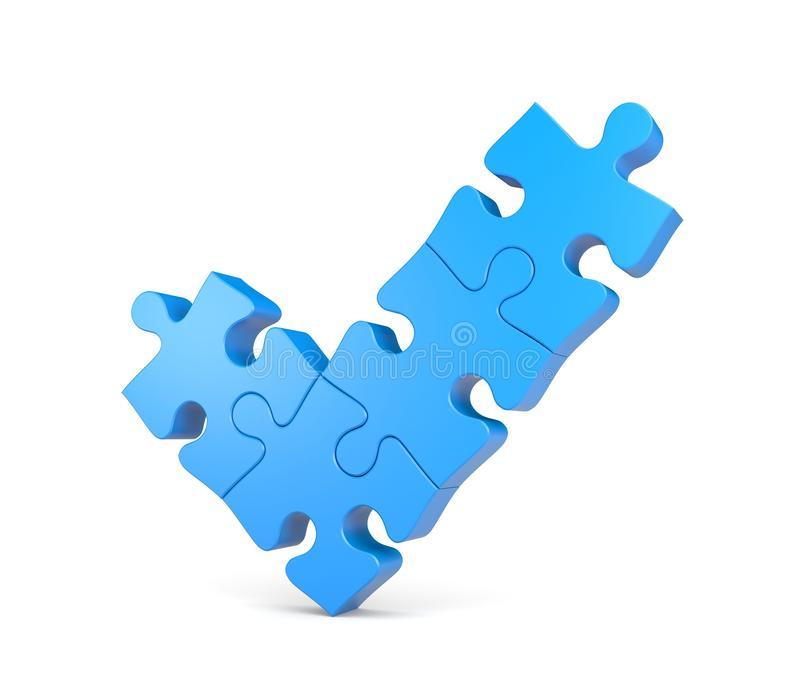 Häkchen von den Puzzlespielen vektor abbildung
