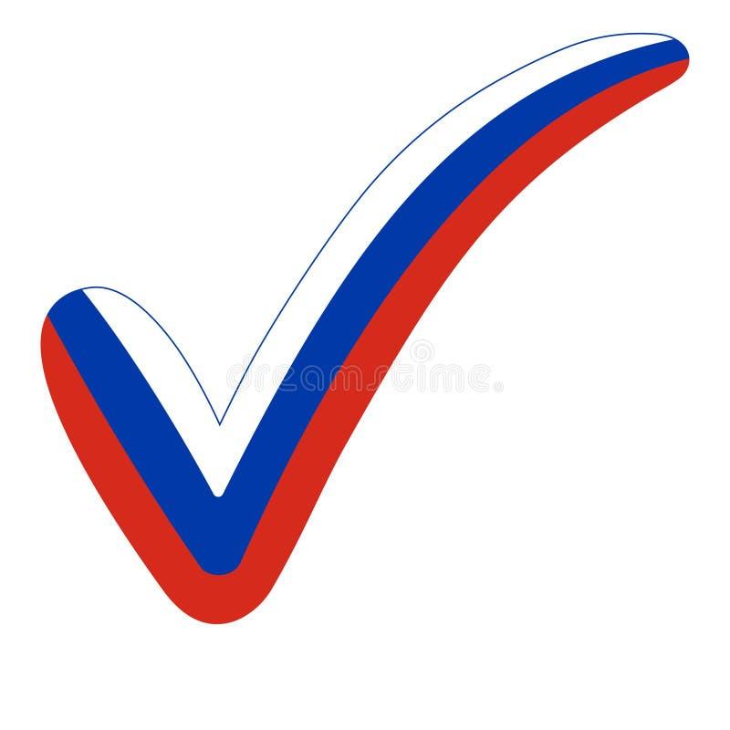 Häkchenart Russland-Flaggenwahlen, wählend stock abbildung