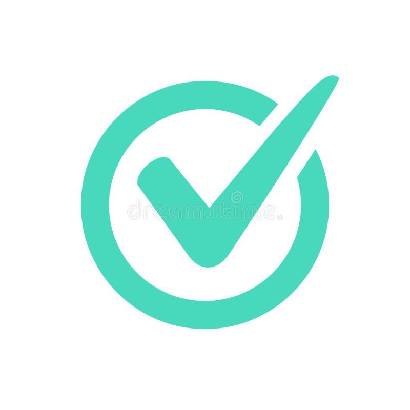 Häkchenlogo oder -ikone lizenzfreie abbildung