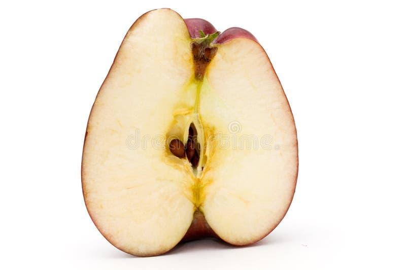 Hälfte des Apfels. lizenzfreies stockfoto