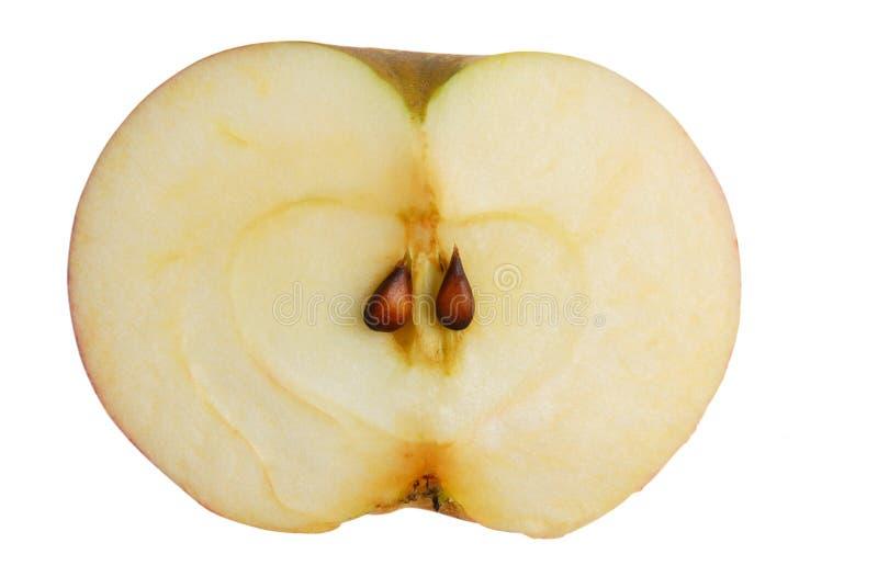 Hälfte ein Apfel lizenzfreie stockfotografie