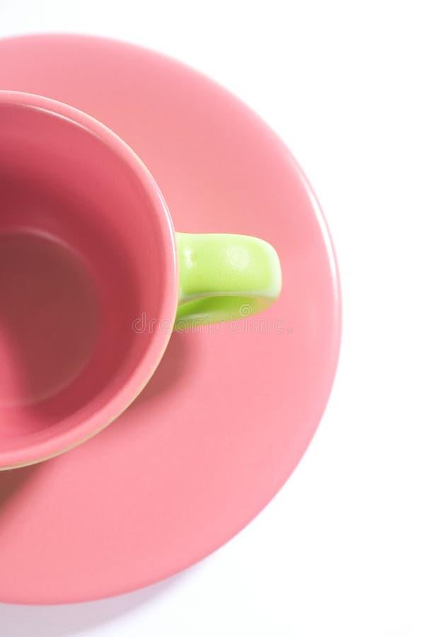 Hälfte ein Cup stockbild