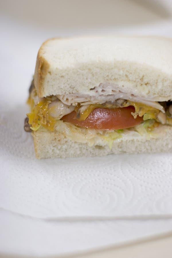 Hälfte Ein Sandwich Stockbild