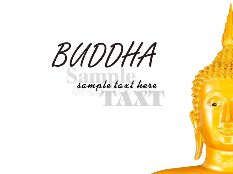 Hälfte eines buddhas Gesichtes lizenzfreie stockfotos
