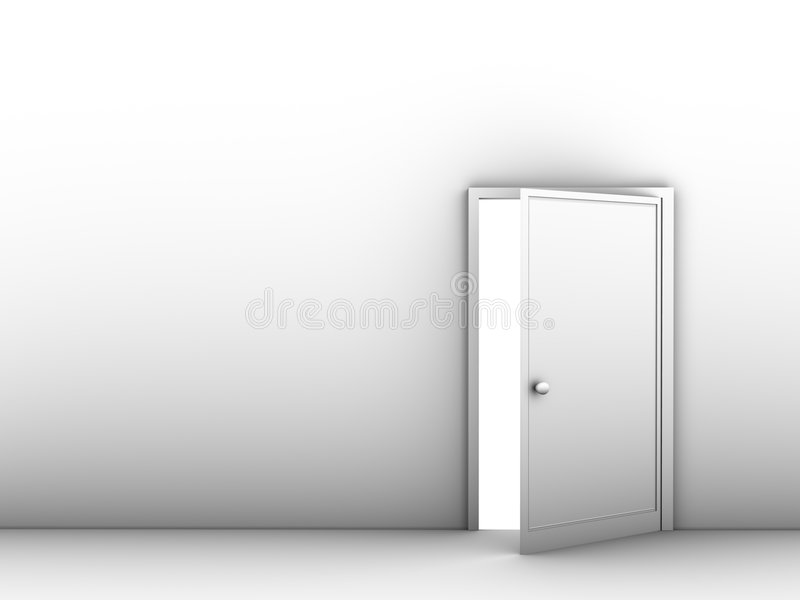 Geöffnete tür  Hälfte-geöffnete Tür Lizenzfreie Stockfotos - Bild: 4068788