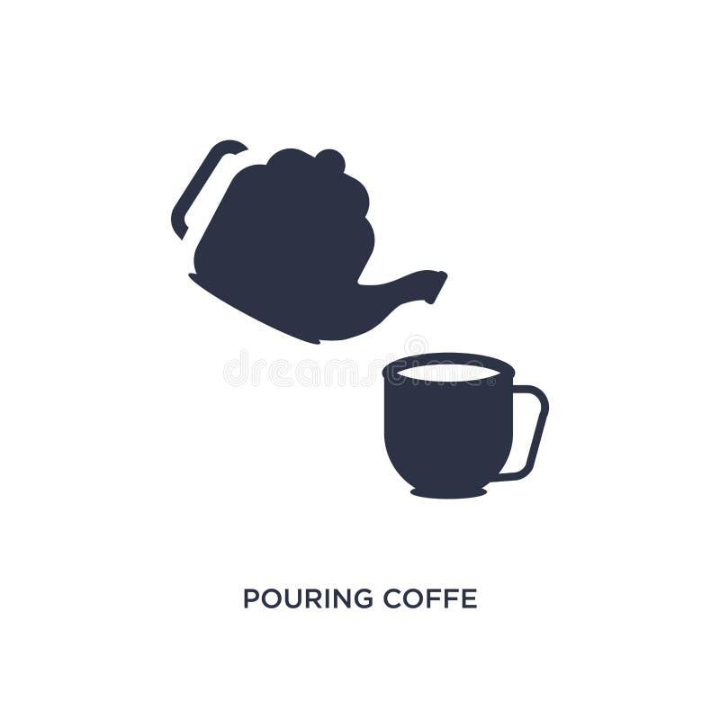 hällande coffesymbol på vit bakgrund Enkel beståndsdelillustration från bistro- och restaurangbegrepp royaltyfri illustrationer
