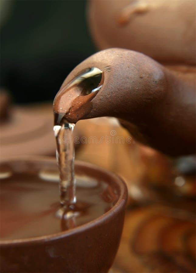 hällande tea för kines royaltyfri foto