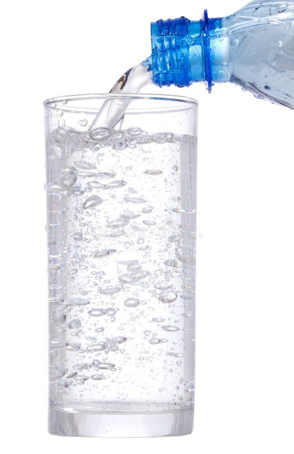 hällande vatten för exponeringsglas royaltyfri foto