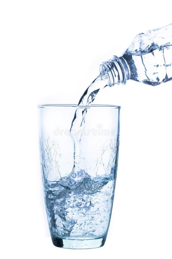 hällande vatten för exponeringsglas arkivbilder