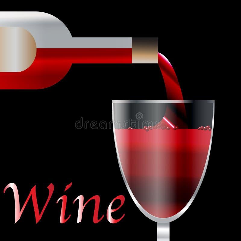 hällande wine royaltyfri illustrationer