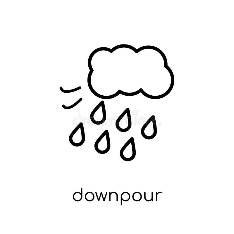Hällregnsymbol från vädersamling vektor illustrationer