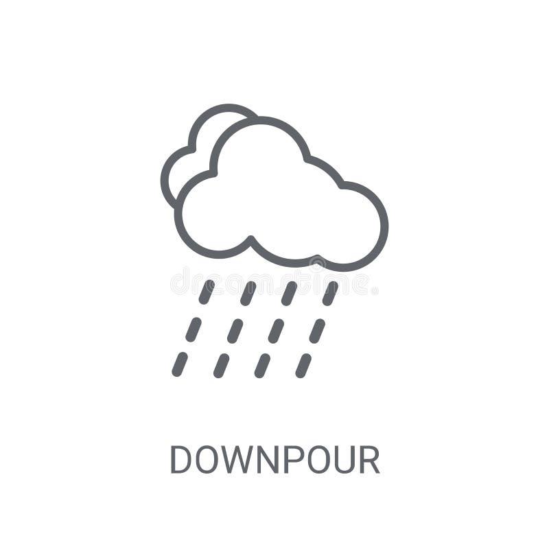 Hällregnsymbol Moderiktigt hällregnlogobegrepp på vit bakgrund royaltyfri illustrationer