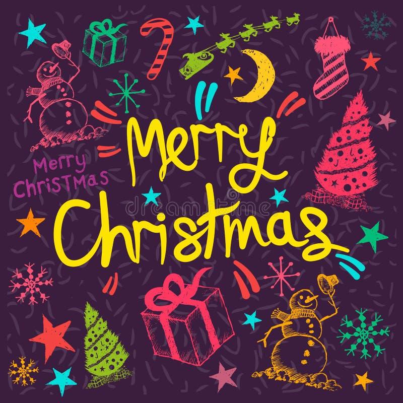 Hälsa för glad jul royaltyfri illustrationer