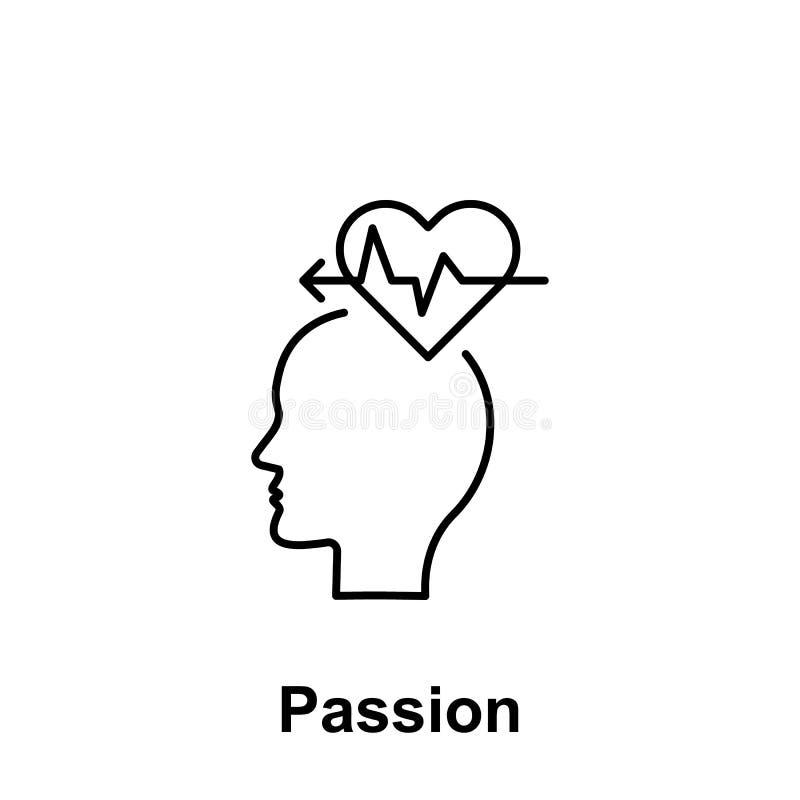 Hälsa hjärta, huvudsymbol Beståndsdel av det idérika namnet för thinkinsymbolswitn Tunn linje symbol för websitedesignen och utve vektor illustrationer