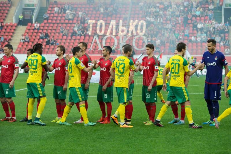 Hälsa rivaler för fotbollleken royaltyfria foton