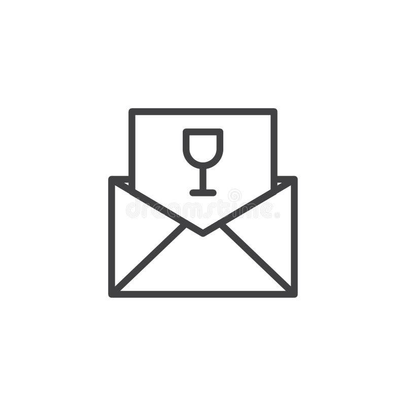 Hälsning- eller inbjudankortlinje symbol stock illustrationer