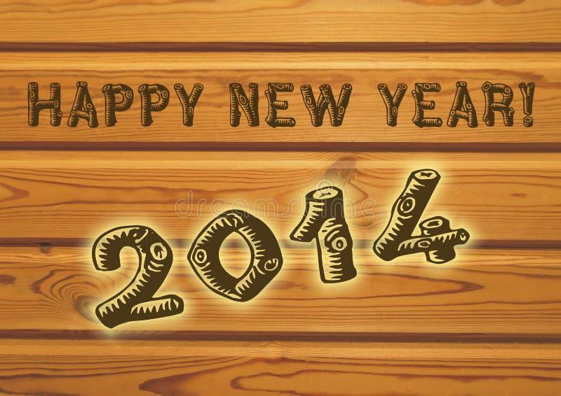 Hälsning för lyckligt nytt år för 2014 royaltyfria foton