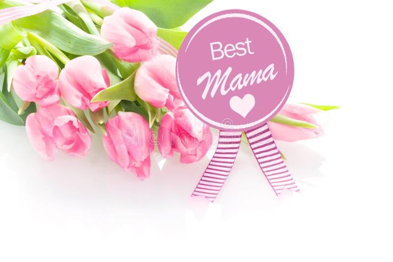Hälsning för moderdag - bästa mamma royaltyfria foton