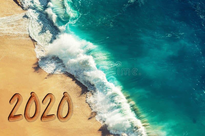 Hälsning för nytt år för år 2020 fotografering för bildbyråer