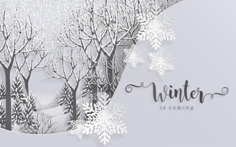 Hälsningar och lyckligt nytt år 2019 för glad jul royaltyfri illustrationer