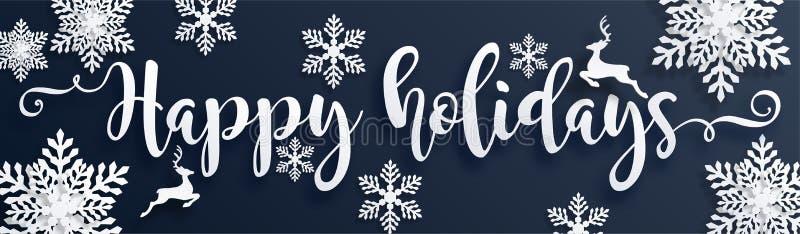 Hälsningar och lyckligt nytt år 2020 för glad jul vektor illustrationer