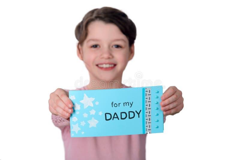 Hälsningkort för dag för fader` s arkivbild