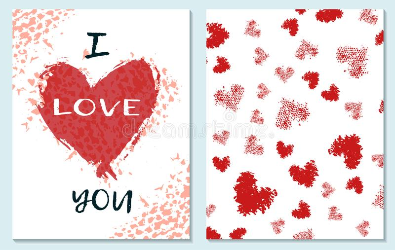 Hälsningkort för dag för St-valentin s jag missa dig teckningen hand henne morgonunderkläder upp varmt kvinnabarn royaltyfri illustrationer