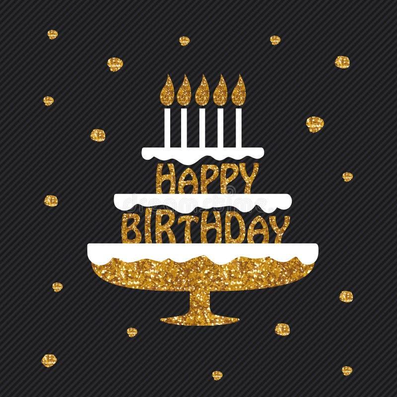 Hälsningkort för lycklig födelsedag, affisch, plakat vektor illustrationer