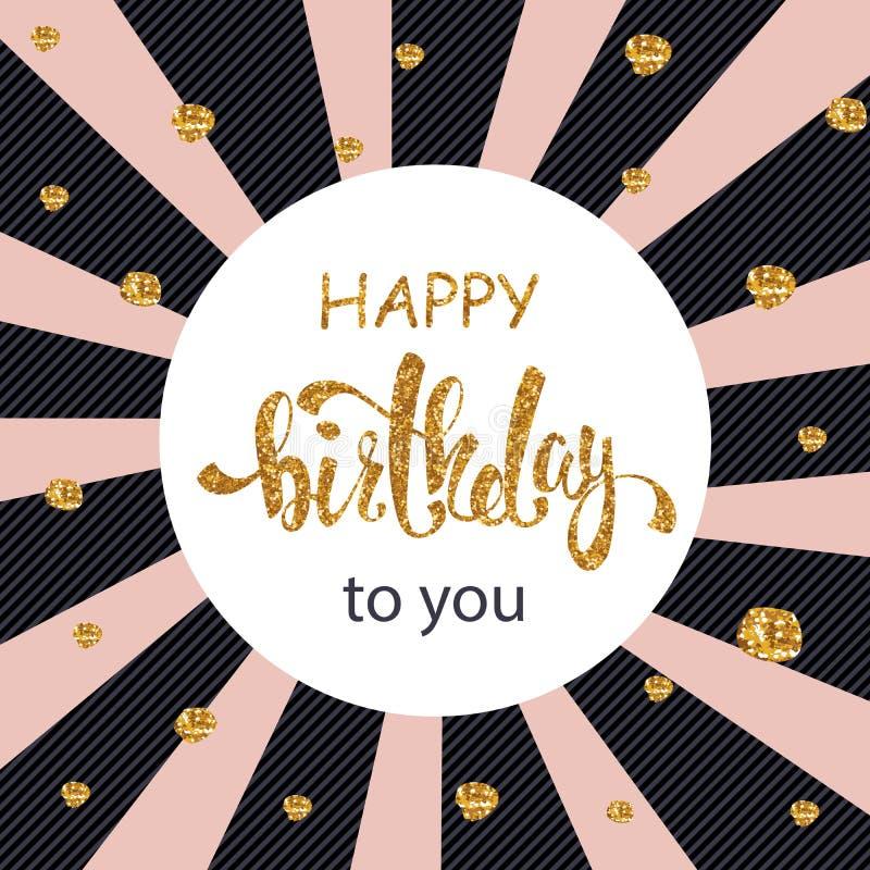 Hälsningkort för lycklig födelsedag, affisch, plakat royaltyfri illustrationer