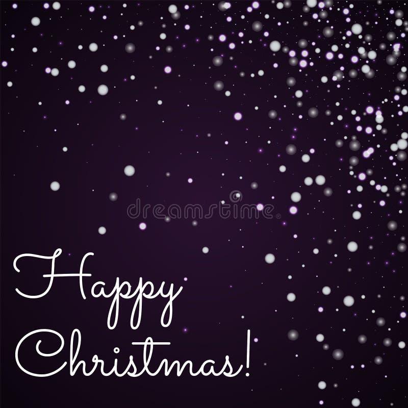 Hälsningkort för lycklig jul stock illustrationer