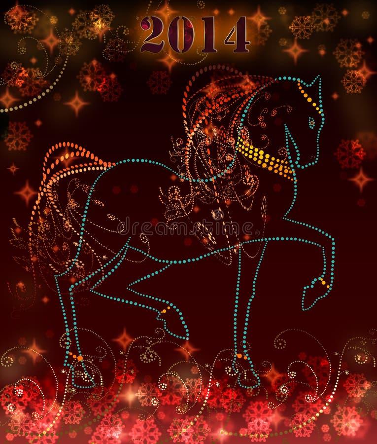 2014 hälsningkort för lyckligt nytt år vektor illustrationer