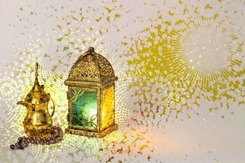 Hälsningkort för Ramadanmånad royaltyfri foto