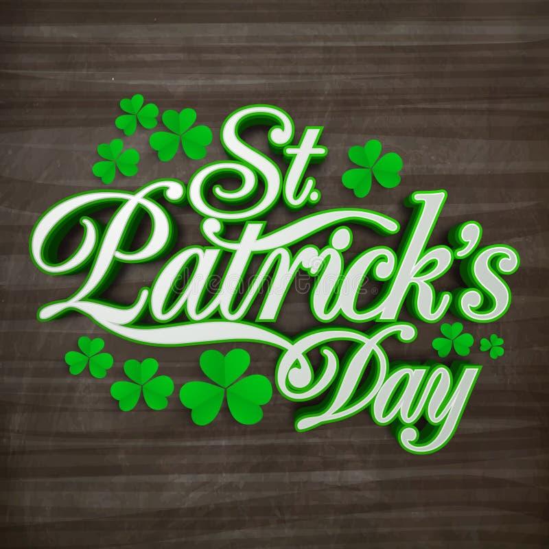 Hälsningkort för Sts Patrick dagberöm stock illustrationer