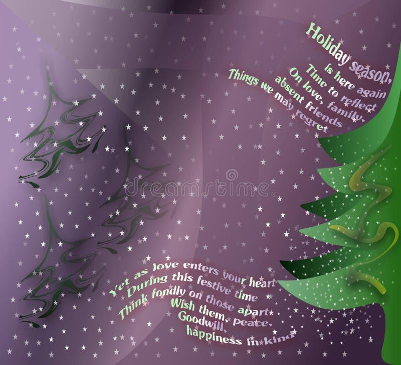 Hälsningkort för vintersemesterperiod stock illustrationer