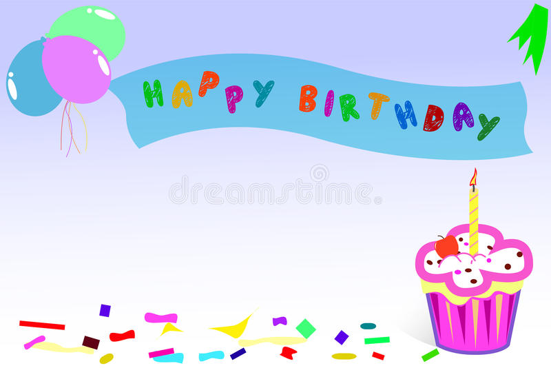 Hälsningkort - lycklig födelsedag vektor illustrationer