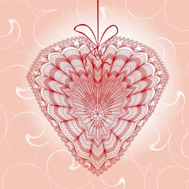 Hälsningkort med hjärtaform vektor illustrationer