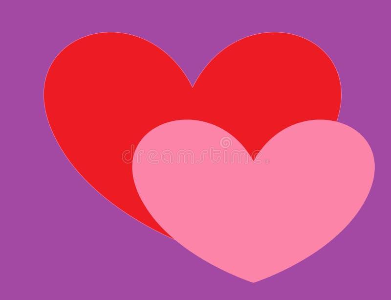 Hälsningkort med hjärtor för dag för valentin` s royaltyfria bilder