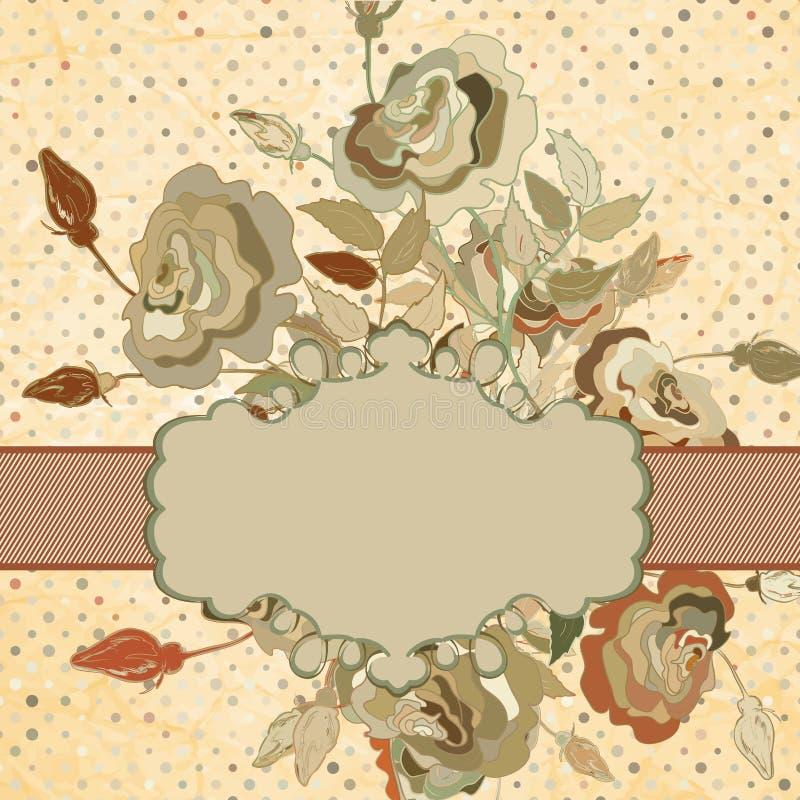 Hälsningkort med nedfläckat papper EPS 8 royaltyfri illustrationer