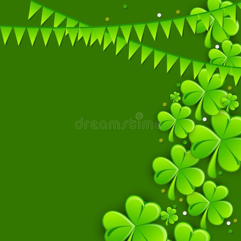 Hälsningkortdesign för Sts Patrick dagberöm royaltyfri illustrationer