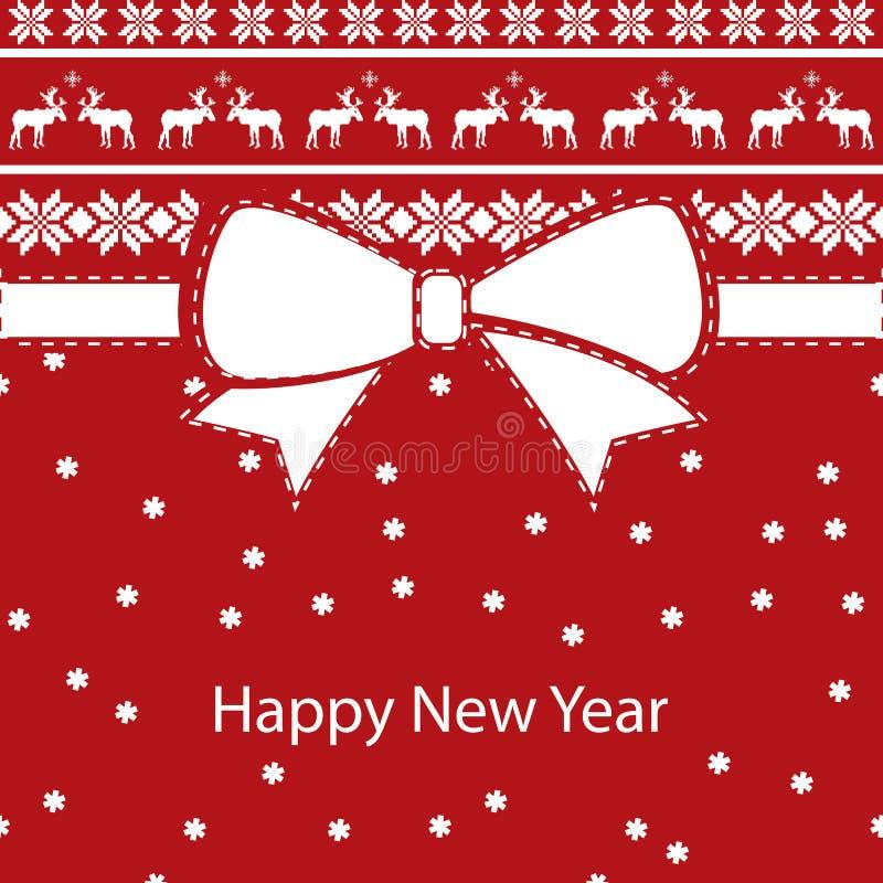 Hälsningsjulkort, lyckligt nytt år stock illustrationer