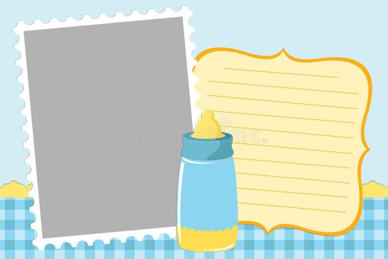 hälsningsmall för blankt kort stock illustrationer